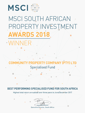 MSCI SOUTH AFRICAN PROPERTY INVESTMENT AWARD